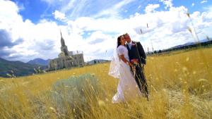 LDS Payson Temple Wedding