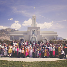 LDS Mt. Timpanogos Temple Wedding