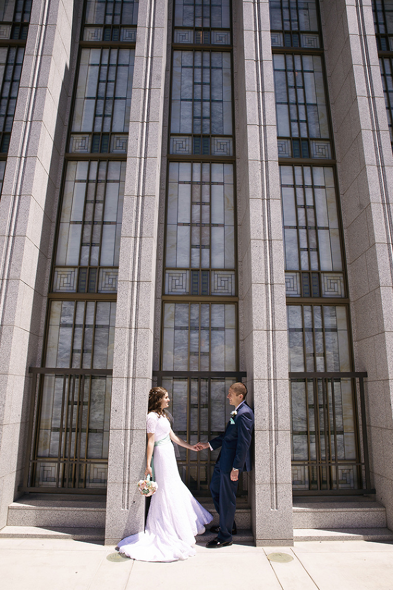 LDS Temple Weddings Draper Temple holding hands
