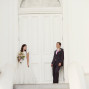LDS Temple Weddings St George Stairs white