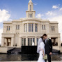 LDS Temple Weddings Payson foreheads clouds water