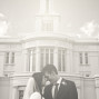 LDS Temple Weddings B&W Payson foreheads