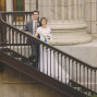 LDS Temple Weddings SLC stairs hands railing