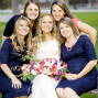 LDS Temple Weddings bridesmaids bokeh
