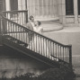 LDS Temple Weddings SLC metal steps B&W