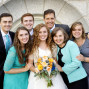 LDS Temple Weddings SLC small family