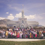 LDS Temple Weddings Mount Timpanogos Big Family