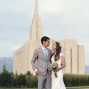 LDS Temple Weddings Oquirrh Mountain classic look