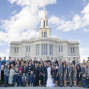 LDS Temple Weddings Payson Big Family