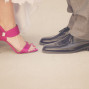 LDS Temple Weddings pink shoes tuxedo