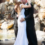 Utah Wedding Ceremony Pictures Millennial Falls kiss