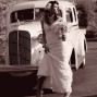Utah Bridal Pictures sepia 1936 cadillac shoes