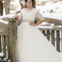 Utah Bridal Pictures leaning on post beautiful