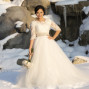 Utah Bridal Pictures snow white dress bouquet