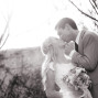 Utah Bridal Pictures black and white kiss