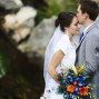 Utah Bridal Pictures bokeh kiss forehead bouquet