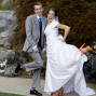 Utah Bridal Pictures silly bride and groom