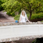 Utah Bridal Pictures memory grove bridge