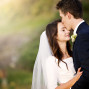 Utah Bridal Pictures perfect bokeh kiss