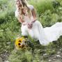 Utah Bridal Pictures sunflower bouquet