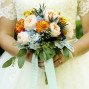 Utah Bridal Pictures bouquet subtle bokeh