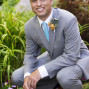 Utah Bridal Pictures happy groom gray suit
