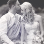 Utah Bridal Pictures black white kiss forehead