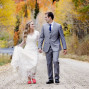 Utah Bridal Pictures holding hands fall mountains