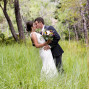 Utah Bridal Pictures romantic kiss