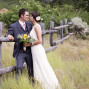 Utah Bridal Pictures bride groom fence weeds