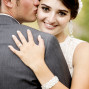 Utah Bridal Pictures bokeh groom kiss bride