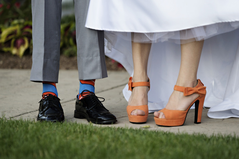 Utah Bridal Pictures orange bride shoes