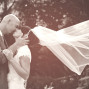 Utah Bridal Pictures sepia veil blowing wind