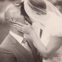 Utah Bridal Pictures sepia kiss