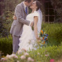Utah Bridal Pictures subtle dip kiss