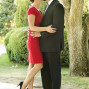 Utah Engagements step stool kiss red dress