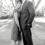 Utah Engagement Pictures B&W black white hug
