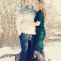 Utah Engagement Pictures subtle look away snow