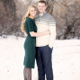 Utah Engagement Pictures snow boots sweater tie