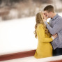 Utah Engagement Pictures red pier kiss bokeh