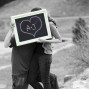 Utah Engagement Pictures picture frame kiss