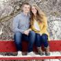 Utah Engagement Pictures red bench highland glen