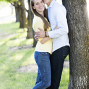Utah Engagement Pictures jeans hug trees