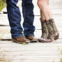 Utah Engagement Pictures cowboy boots bridge