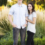 Utah Engagement Pictures holding arm yellow flowers