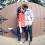 Utah Engagement Pictures fisheye fence kiss