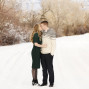 Utah Engagement Pictures Highland Glen Park snow
