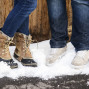 Utah Engagement Pictures snow boots nike shoes