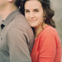 Utah Engagement Pictures eyes happy red shirt
