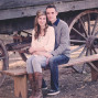 Utah Engagement Pictures covered wagon bench